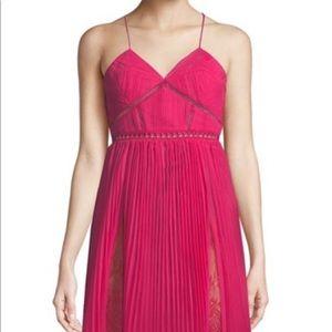 Self Portrait Pink Midi Dress